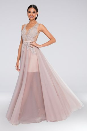 Long Ballgown Tank Dress - Terani Couture