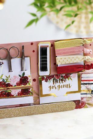 Burgundy Floral Wedding Survival Kit