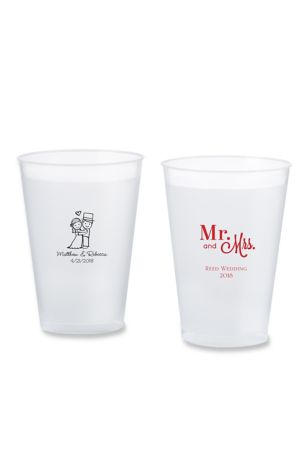 Personalized Wedding Frosted Flex Cup Favors