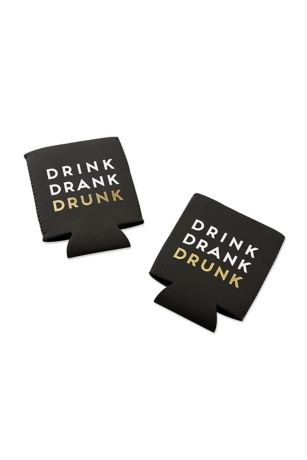 Drink Drank Drunk Insulated Drink Sleeve Set of 4