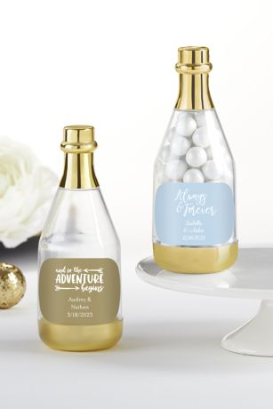 Personalized Gold Metallic Champagne Favors
