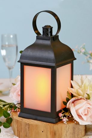 LED Vintage Decorative Black Lantern Set
