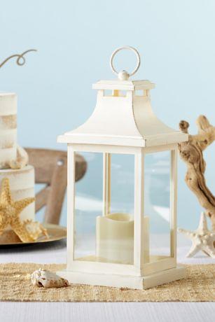 LED Vintage Decorative Ivory Lantern
