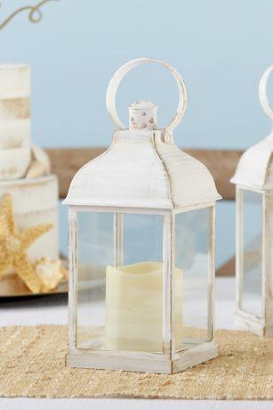 LED Vintage Decorative White Lantern Set