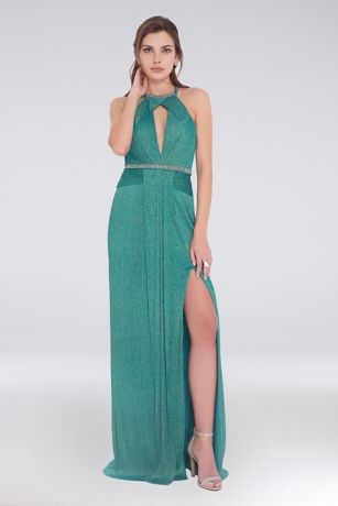 Long Halter Dress - Terani Couture