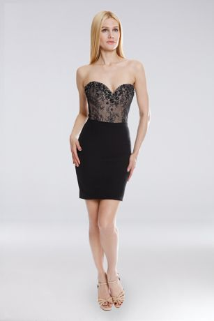 Short Strapless Dress - Terani Couture