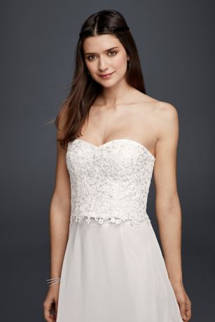 Strapless Beaded Lace Corset Top