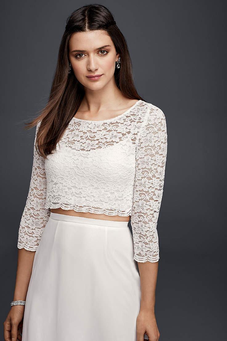 77d270ff40 Bridal Separates - 2 Piece Wedding Dress Skirts, Tops | Davids Bridal