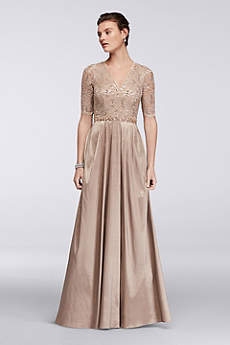 Long Ballgown Elbow Sleeves Formal Dresses Dress - Decode 18