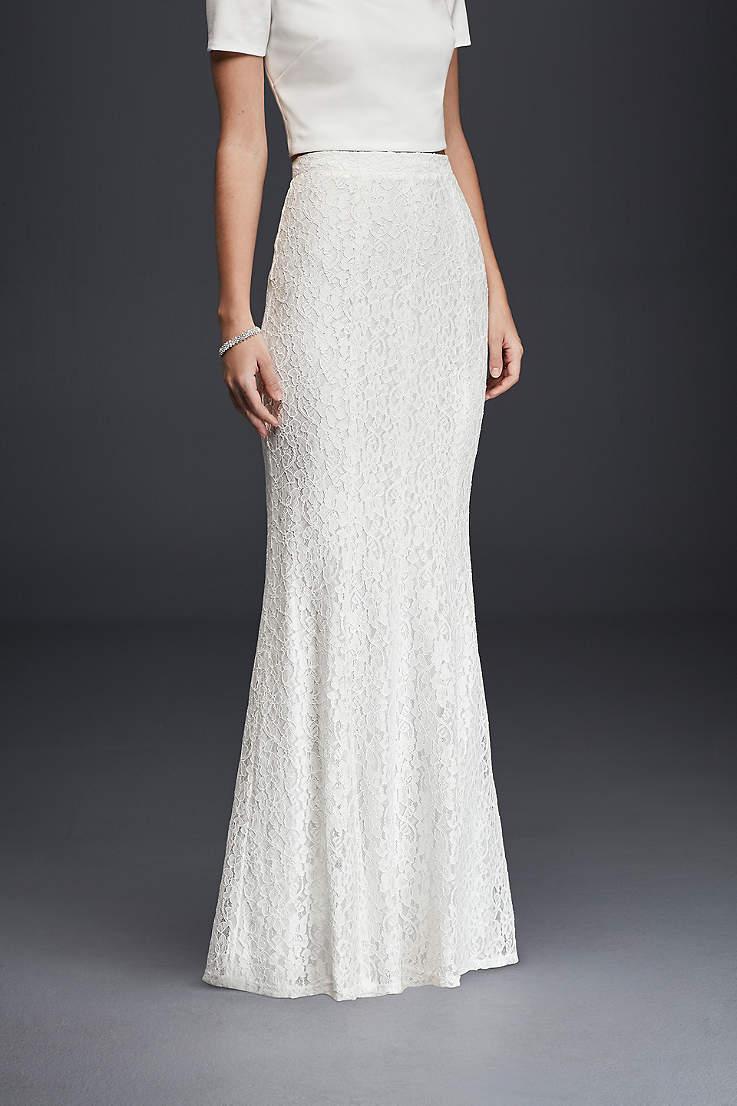 Bridal Separates 2 Piece Wedding Dress Skirts Tops Davids Bridal
