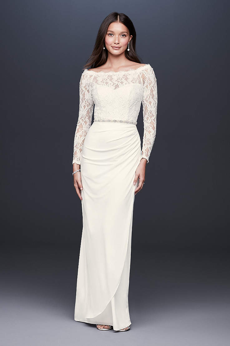 casual informal wedding dresses david s bridal