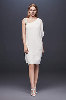 Short Sheath One Shoulder Dress - DB Studio