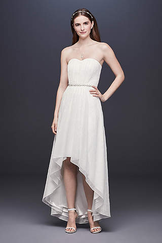 High Low Sheath Casual Wedding Dress