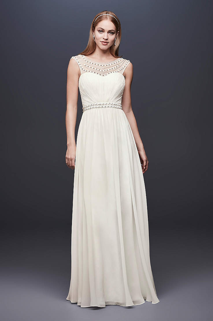 cf917c5692 Removed from your favorites. Long Sheath Wedding Dress - DB Studio