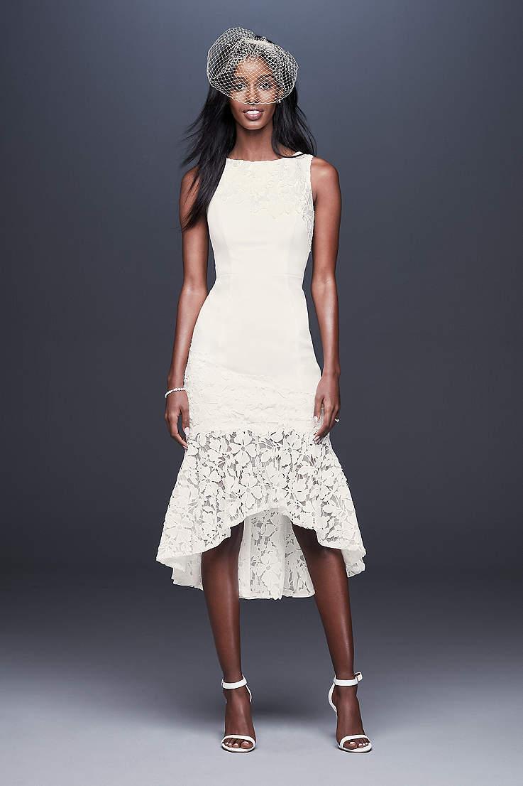 fe2bdae6a00e Short & Tea Length Wedding Dresses | David's Bridal