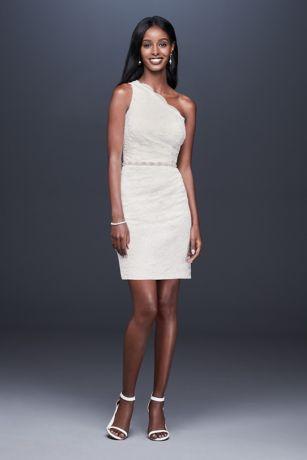 2b8630d70b9 Short Sheath Wedding Dress - DB Studio