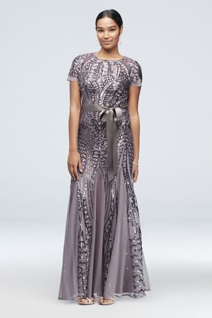 Long Mermaid/ Trumpet Short Sleeves Dress - RM Richards