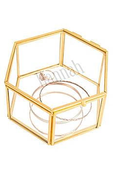Personalized Gold Keepsake Jewelry Box 1880