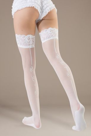 Coquette Bride to Be Thigh Highs