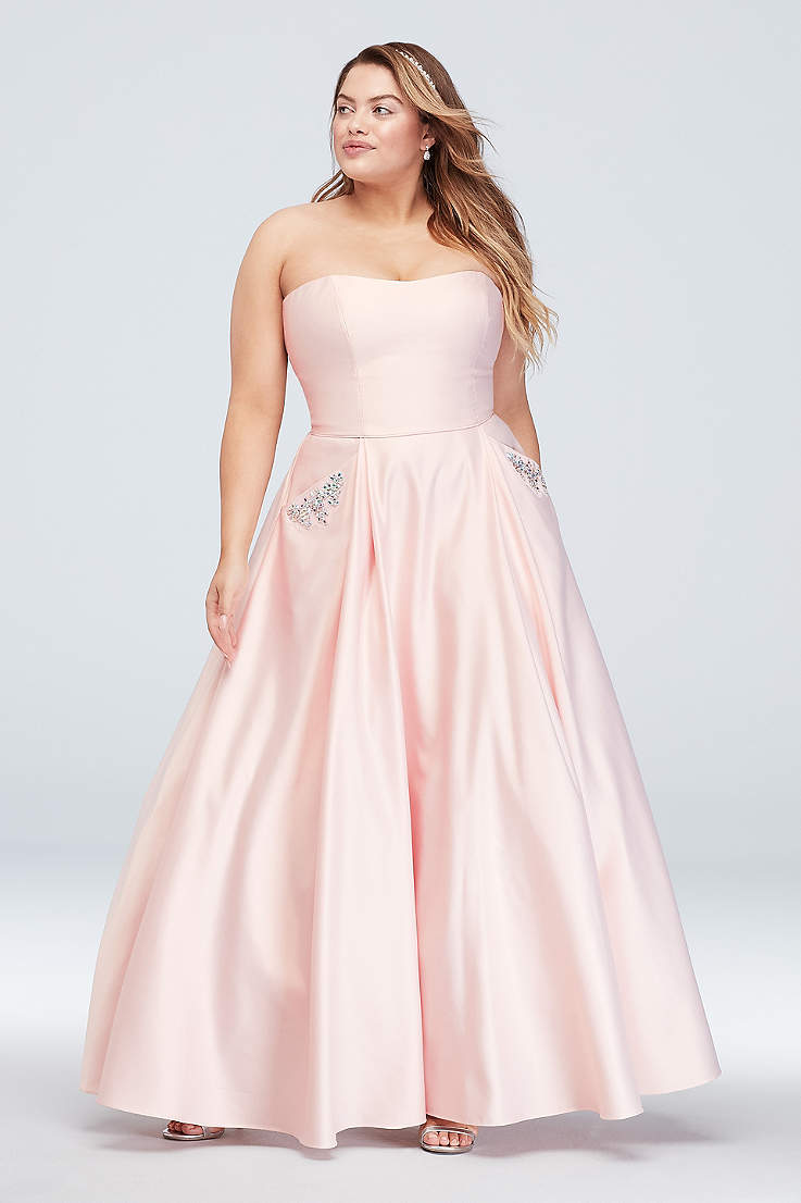 d7629287dda Long Ballgown Strapless Dress - Blondie Nites