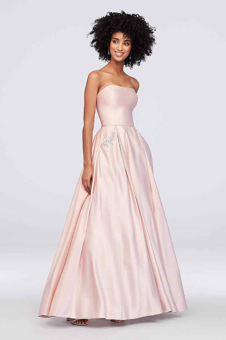 5f880024 Long Ballgown Strapless Dress - Blondie Nites