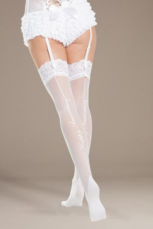 Coquette Happy Anniversary Thigh Highs
