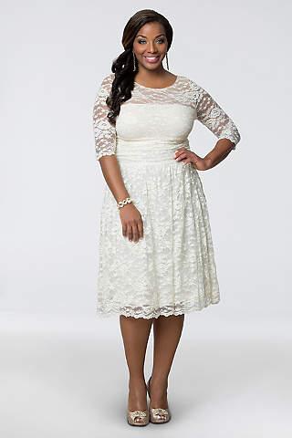 Plus Size Bride Long Casual Wedding Dress Kiyonna