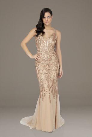 Long Sleeveless Dress - Terani Couture