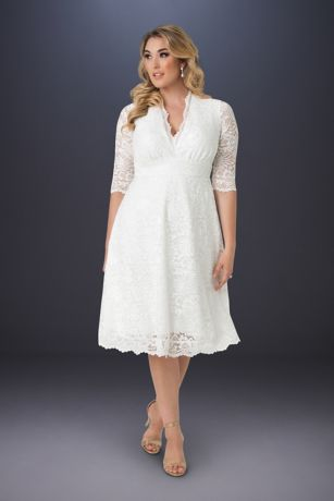 Short A-Line Wedding Dress - Kiyonna