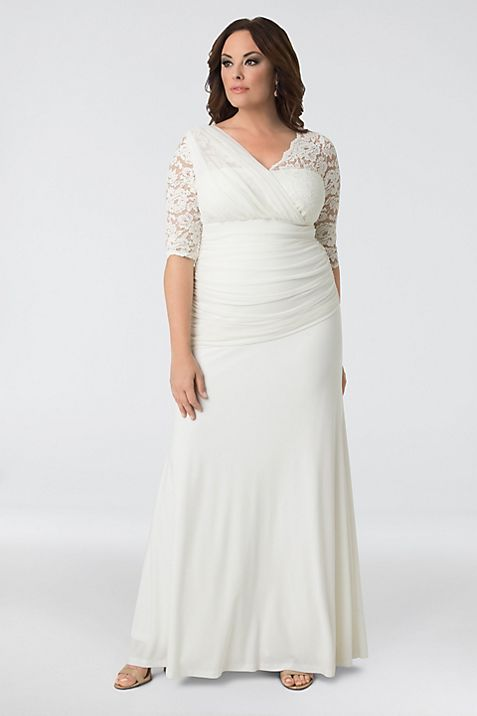 Elegant Aisle Plus Size Wedding Gown | David\'s Bridal