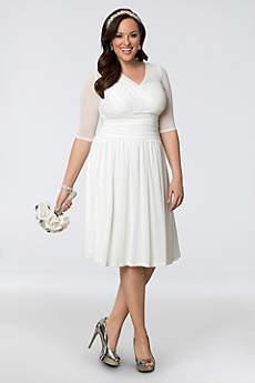 Short Casual Wedding Dress - Kiyonna