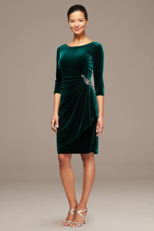 Short Sheath 3/4 Sleeves Dress -