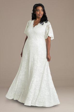 Long Fit and Flare Short Sleeves Dress - Kiyonna