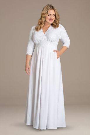 Long A-Line Long Sleeves Dress - Kiyonna