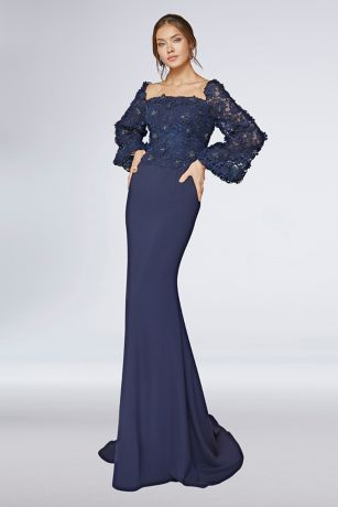 Long One Shoulder Dress - Terani Couture