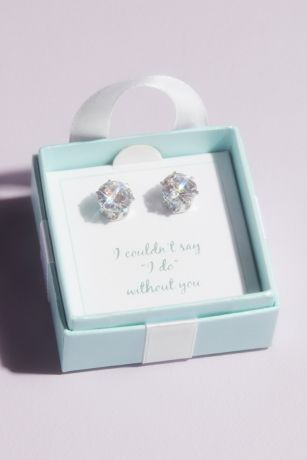 Say I Do Cubic Zirconia Earrings with Gift Box