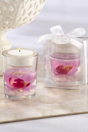 Orchid Gel Tea Light Holders