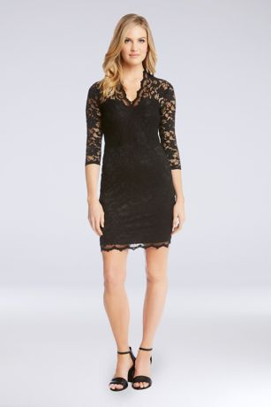 Short Sheath Long Sleeves Dress - Karen Kane