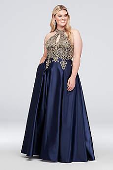 Long Ballgown Halter Formal Dresses Dress - Xscape