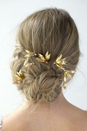 Gilded Grecian Hair Combs Set