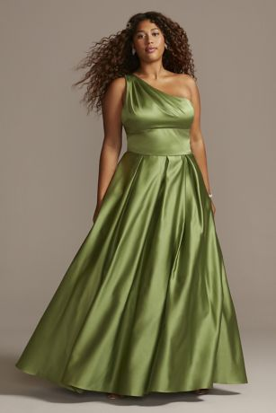 Long Ballgown One Shoulder Dress - Blondie Nites