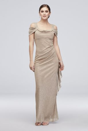 Long Sheath Off The Shoulder Dress Rm Richards