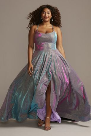 Long Ballgown Spaghetti Strap Dress - Night Studio