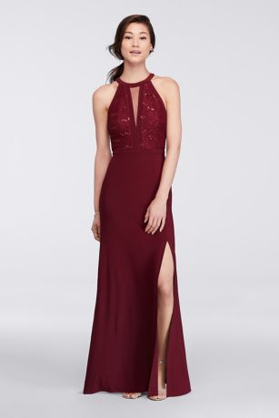 Long Sheath Halter Dress - Morgan and Co