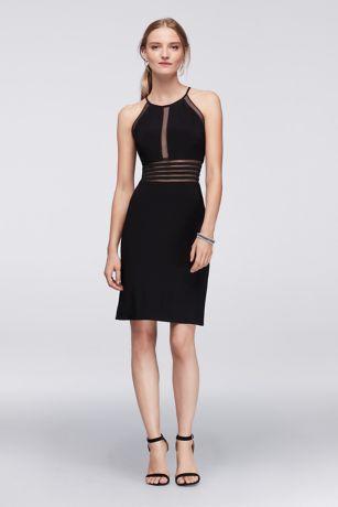 Short Sheath Halter Dress - Morgan and Co