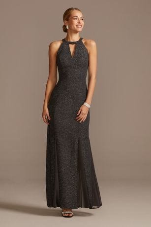 Long Mermaid / Trumpet Halter Dress - Morgan and Co