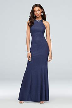Long Mermaid/ Trumpet Halter Formal Dresses Dress - Nightway