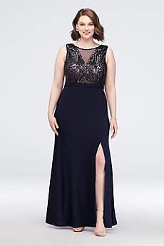 Soft & Flowy Nightway Long Bridesmaid Dress