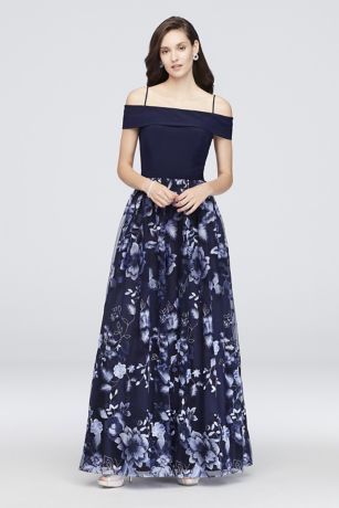 Long Ballgown Off the Shoulder Dress - Nightway