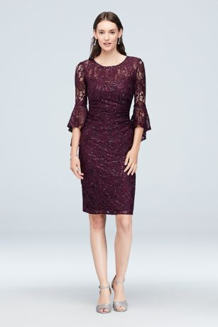 Short Sheath 3/4 Sleeves Dress - Nightway